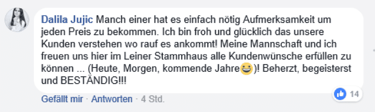 Facebook Posting Jobbotschafter