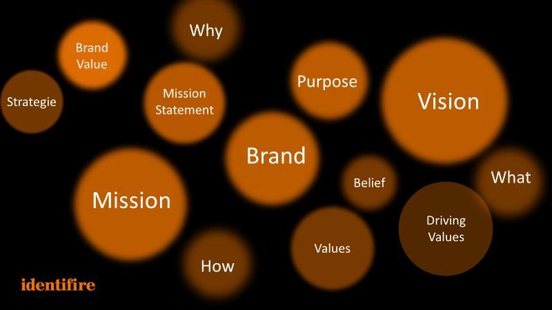 Purpose Mission Brand Vision identifire